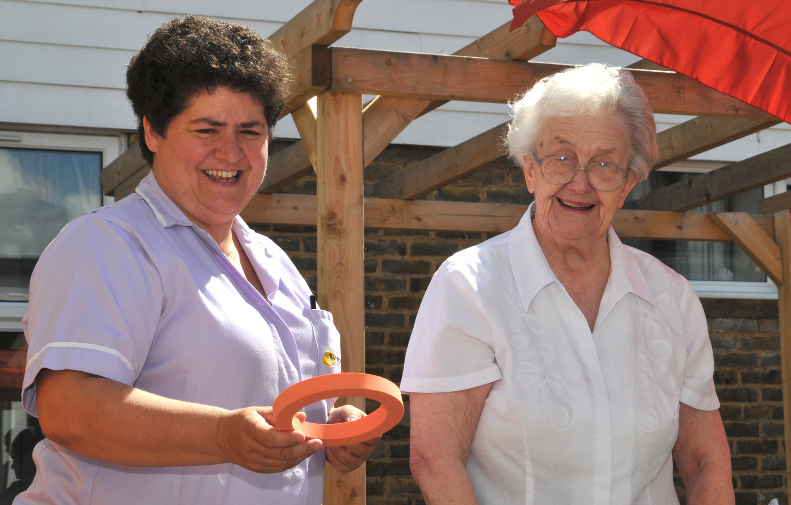 Bennett Lodge care staff and residents enjoy the garden