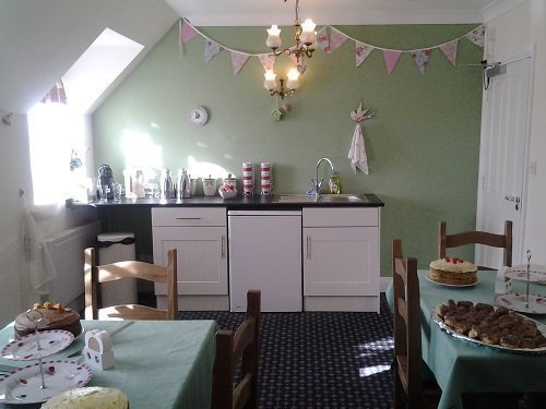 Broomhills tea room is bright and welcoming