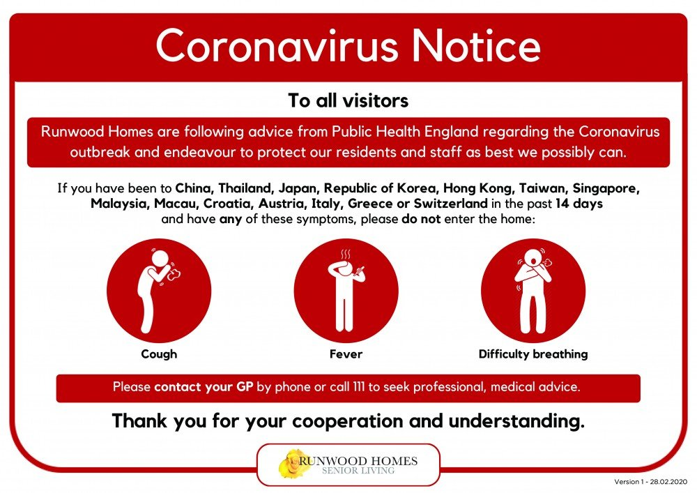 Covid 19 Coronavirus Frequently Asked Questions Runwood Homes