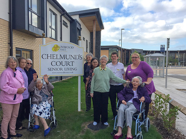 Residents of Chelmunds Court