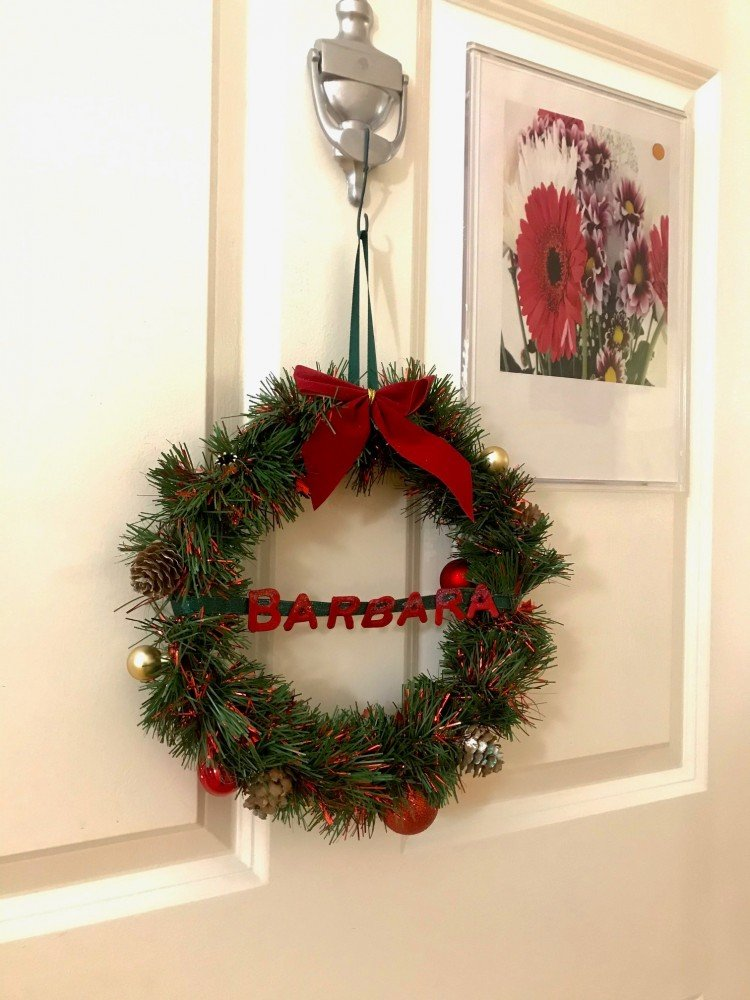 Jazzed up Zimmer frames and personalised door wreaths keep residents festively active