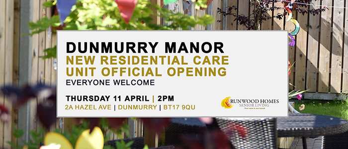 Dunmurry Manor - New Residential Care Unit Official Opening Thursday 11 April 2pm