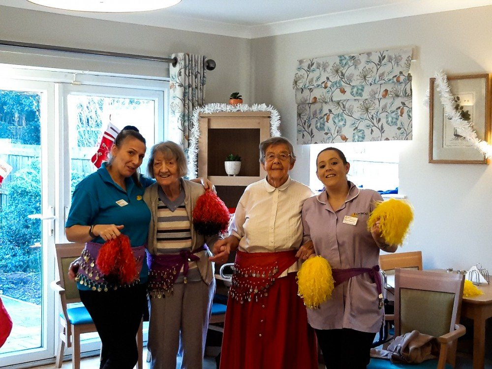 Belly Dancer wows residents at Leawood Manor.