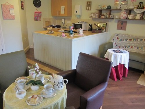 The vintage theme makes the tea room a great place to reminisce