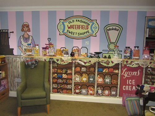 Our tea room also has an old fashioned sweet shop