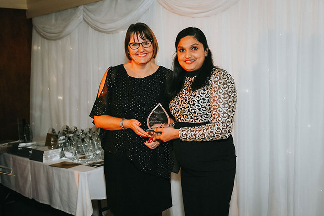 Manager, Jimitha Jacob, received Highly Commended Manager of the Year award from CCG Nottinghamshire