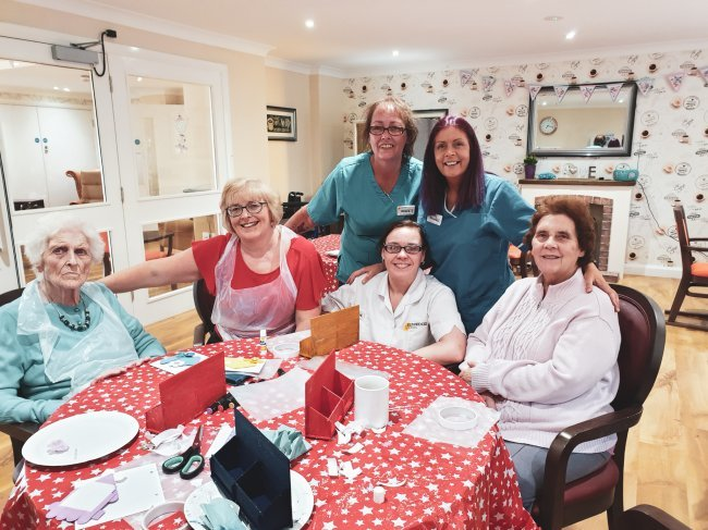 Residents and staff at Glenabbey Manor in Glengormley, Northern Ireland, have been keeping busy recently, from knitting corner to a craft fundraiser