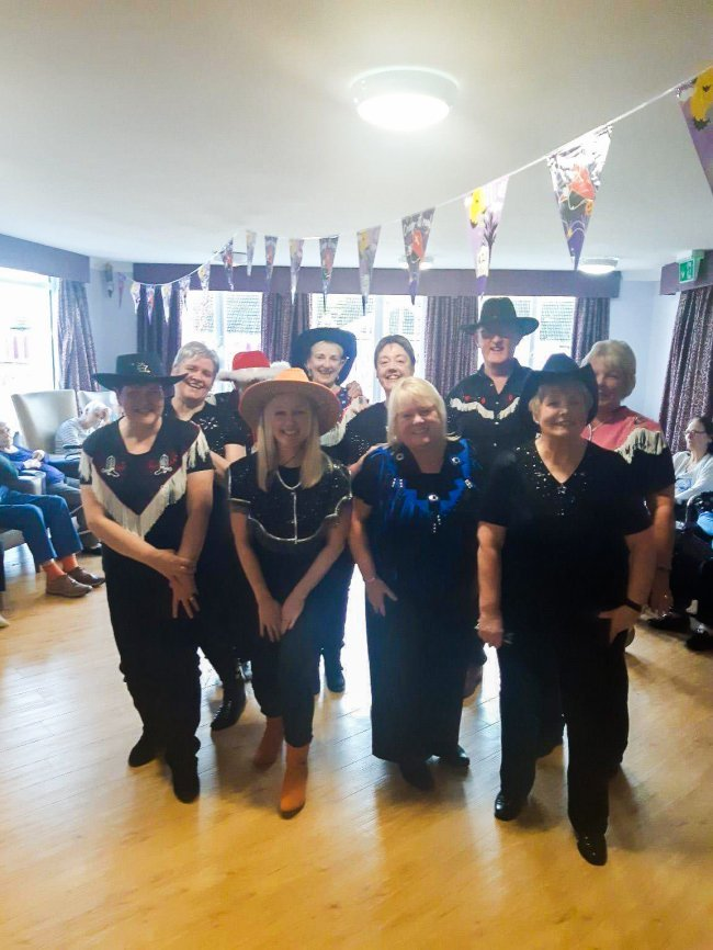 Residents at Oak Tree Manor were treated to a line dance performance from local group, True Rebels.