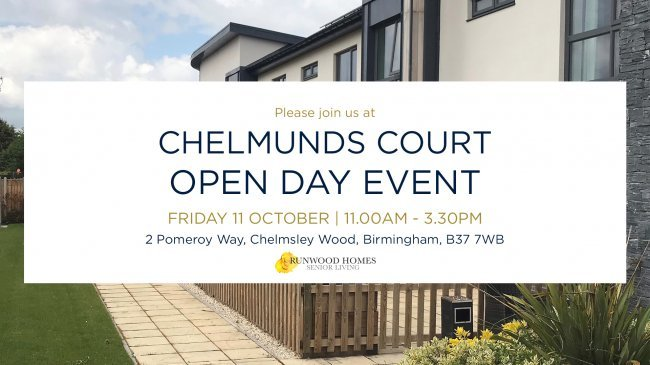 Chelmunds Court Open Day event. Join us from 11am on 11 October 2019.