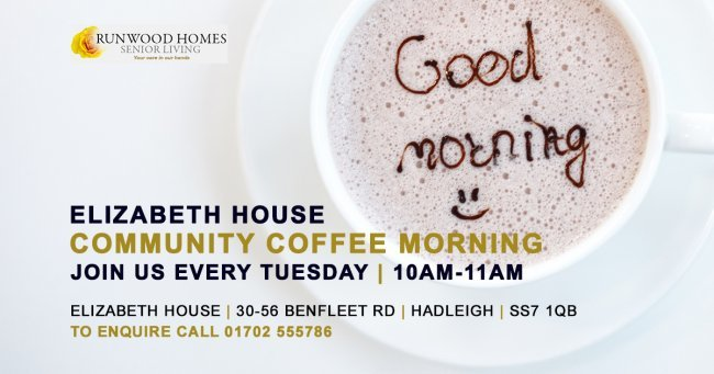 Community Coffee Morning every Tuesday at Elizabeth House