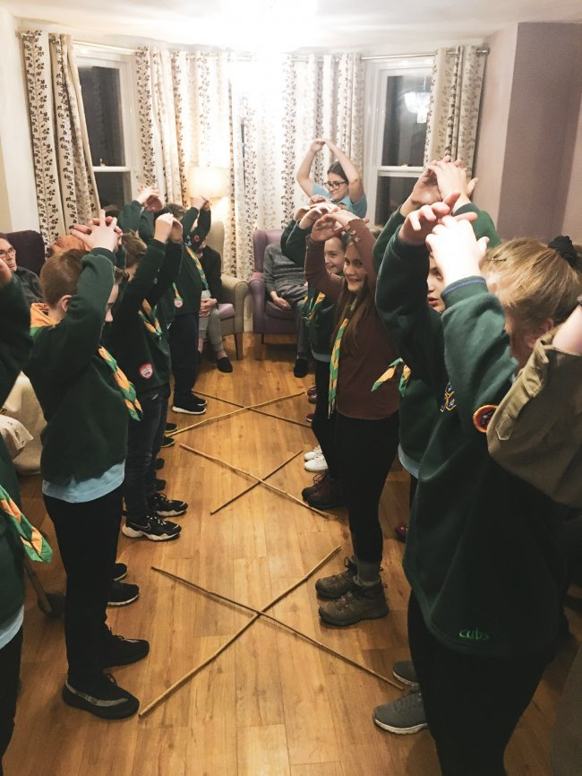 Residents at Broomhills care home in Rochford, Essex, happily welcomed their local Scouts group for Burns Night.