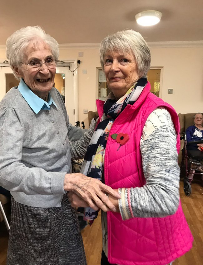 Residents at Rose Court in Ballymena get involved in some Autumn fun.