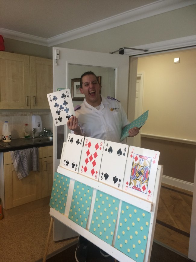 Windle Court residents stay busy during tools down and with various activities.