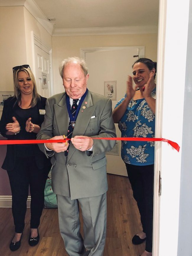 Longview care home unveil new shop, opened by Ray Howard MBE