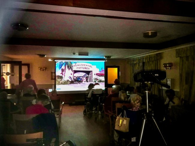 Rowena House in Conisbrough get comfortable for 'Singing in The Rain' movie night.