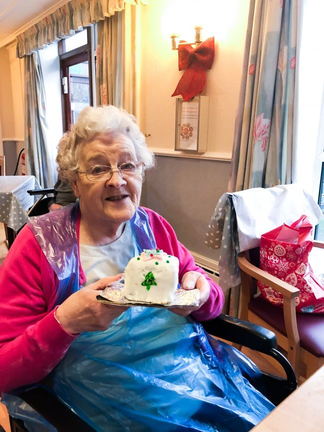 Residents at Rowena House in Conisbrough try their hand at some Christmas baking.