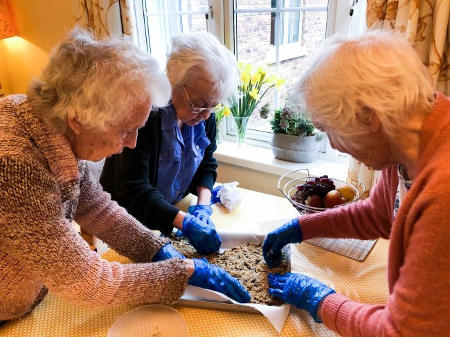 Silvanna Court residents in Wickford, Essex, have been keeping active with cooking sessions and a trip out to their local restaurant.