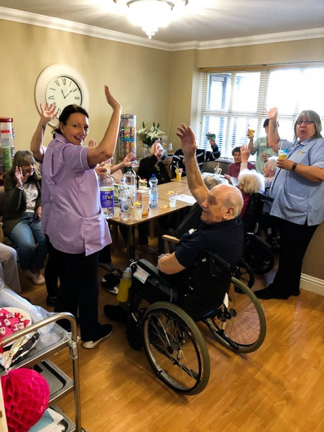 The Grange residents and staff come together for 'Tools Down' Mocktail Hour