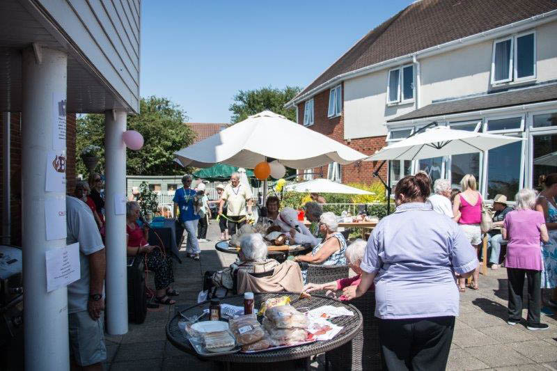 Residents at Windle Court in South Woodham Ferrers enjoy Rock 'n' Roll Summer Fete