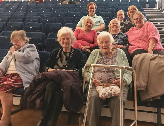 Humfrey Lodge residents take day trip out to local cinema screening.