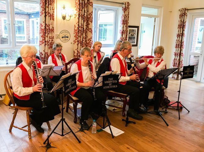 The Woodwind of Stortford entertain Humfrey Lodge residents with wonderful music.