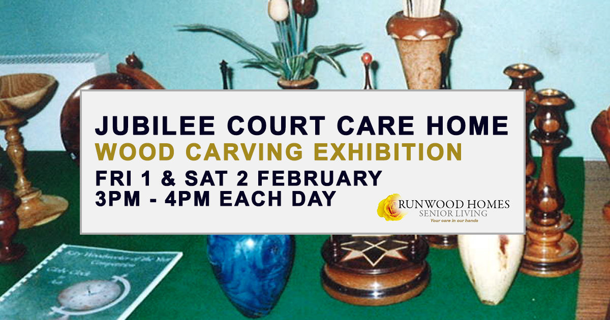 Wood Carving exhibition at Jubilee Court on 1 & 2 February