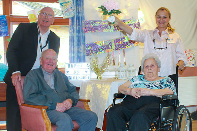 Mr & Mrs Wright celebrate 65 years of marriage at Jubilee Court