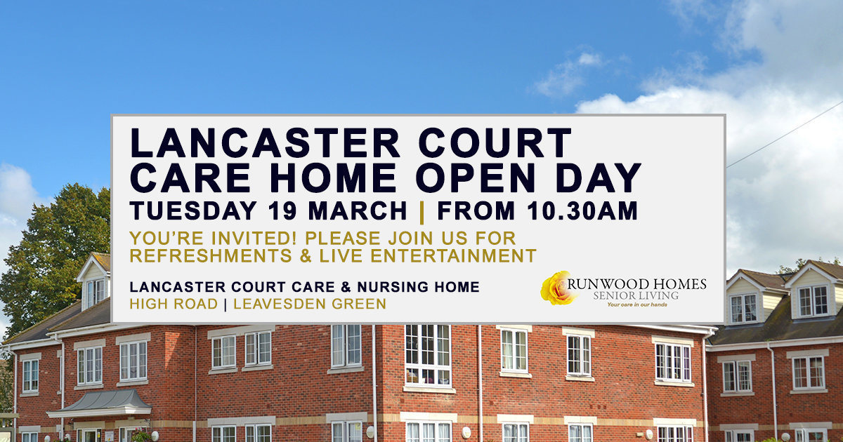 You're invited to Lancaster Court's Open Day on Tuesday 19 March