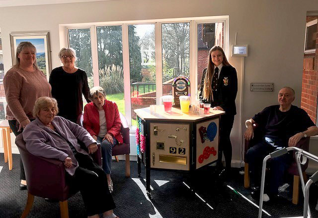 Dementia sensory project presentation to Heron Court care home residents