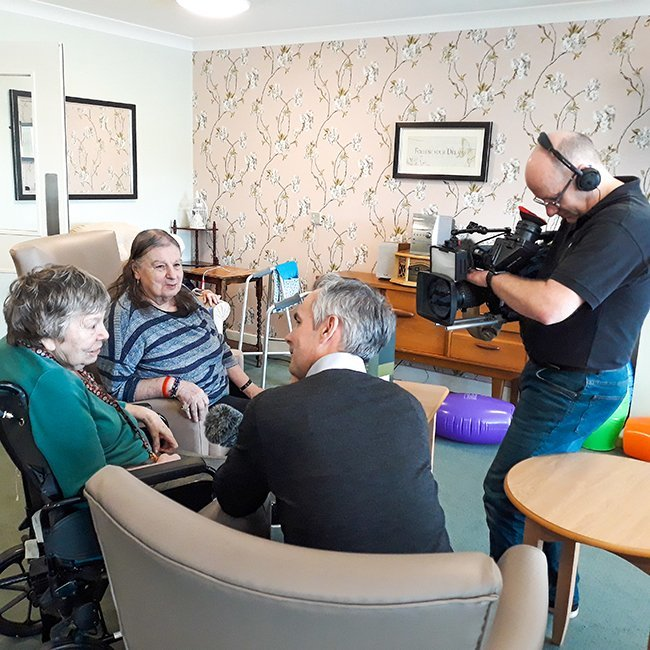 Park View care home welcomes BBC film crew for intergenerational session
