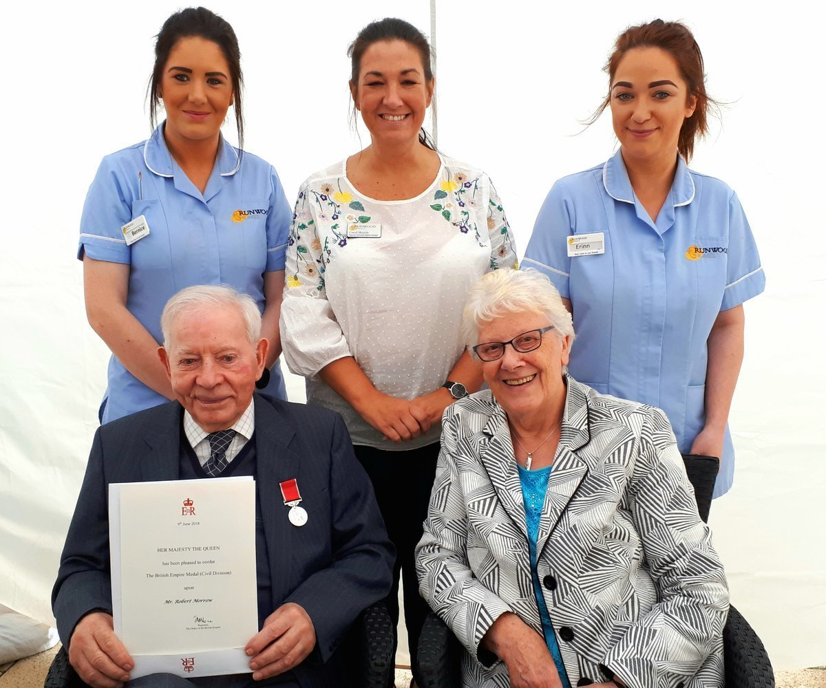 British Empire Medal presented to Rose Court resident