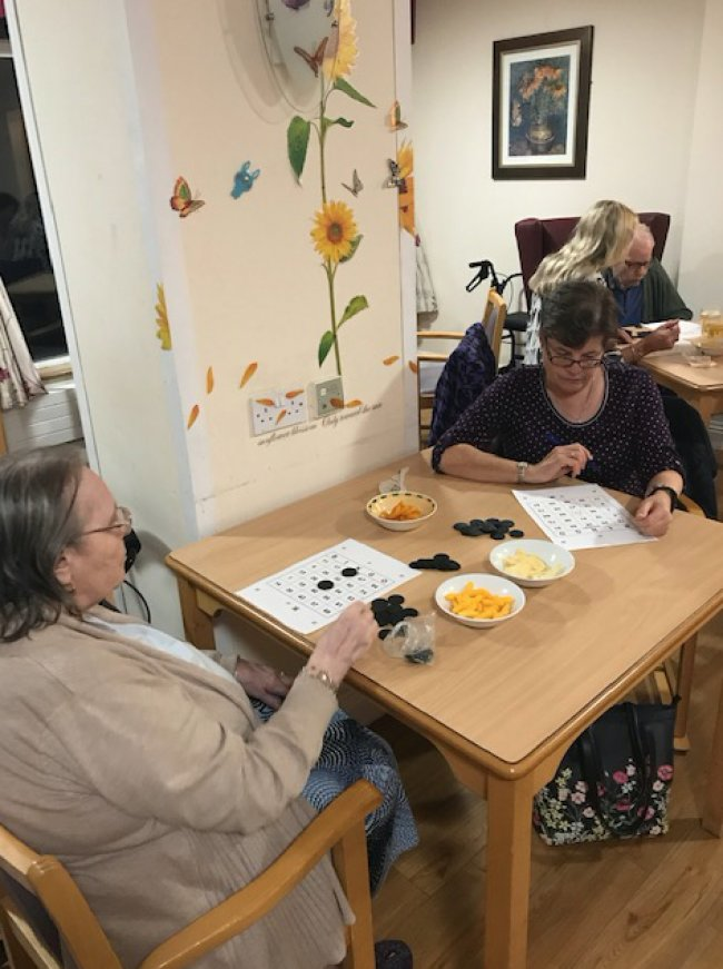 Residents enjoyed a wonderful Bingo night at Park View in Witham.