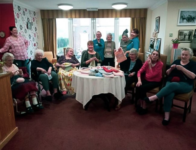 Residents, staff and friends of Tallis House care home in Waltham Abbey, Essex, have been knitting pouches for injured animals in Australia.