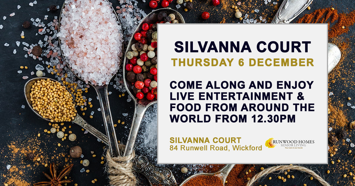 Silvanna Court - Entertainer and food from around the world on Thursday 6 December