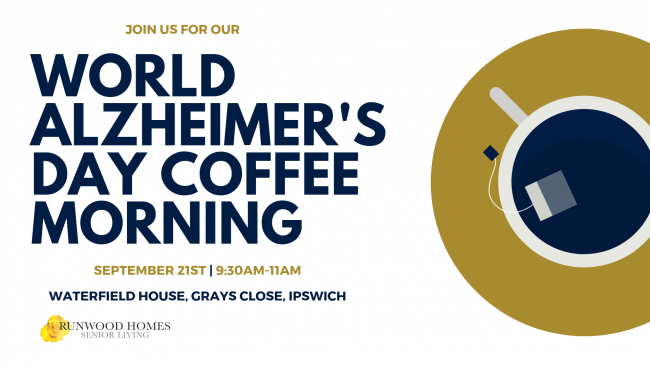 Join us for our 'World Alzheimer's Day' Coffee Morning at Waterfield House