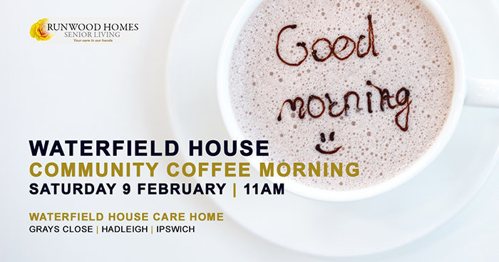 Saturday Morning Coffee at Waterfield House on 9 February