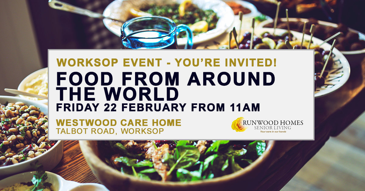 Food from Around the World event at Westwood on Friday 22 February