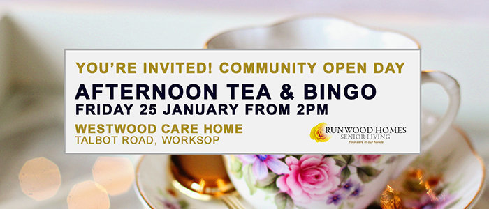 Community Open Day at Westwood on Friday 25 January - Join us!