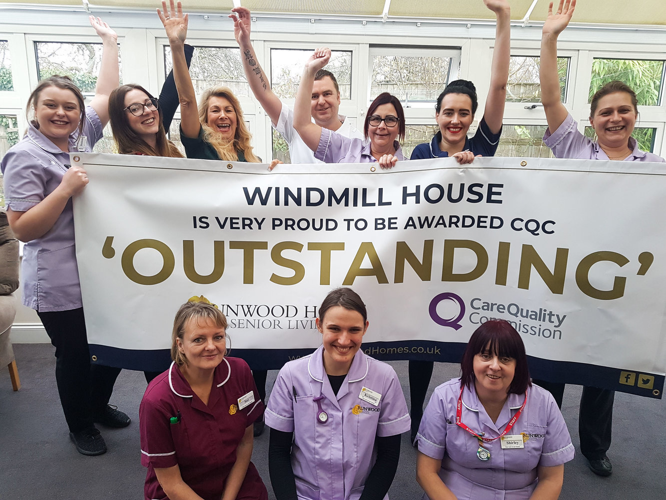 Windmill House achieves 'Outstanding' CQC rating