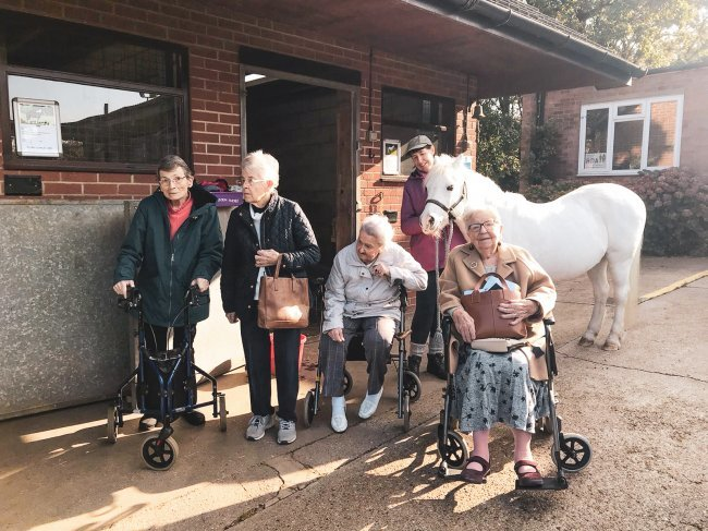 Frank Foster House residents in Theydon Bois, Essex, have been keeping very busy, from visits to the local riding school to lunch at the local church.