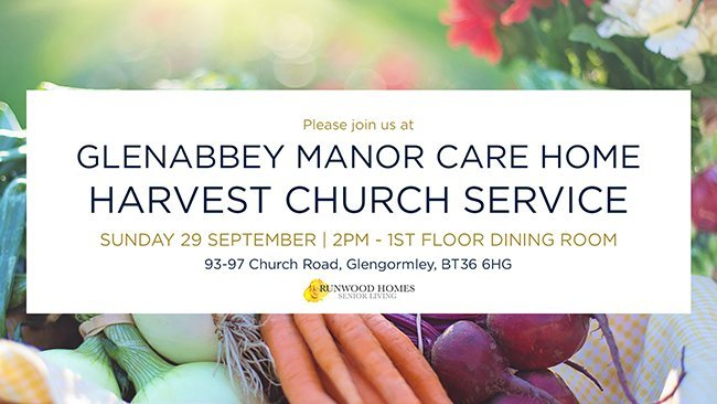 Glenabbey Manor Harvest Service, 29 September - Join us