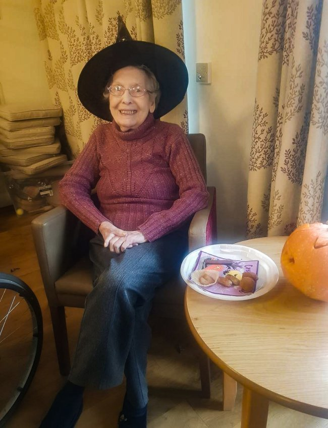 Lower Meadow care home in Stratford upon Avon, Warwickshire, keep residents busy with pumpkins and fireworks.