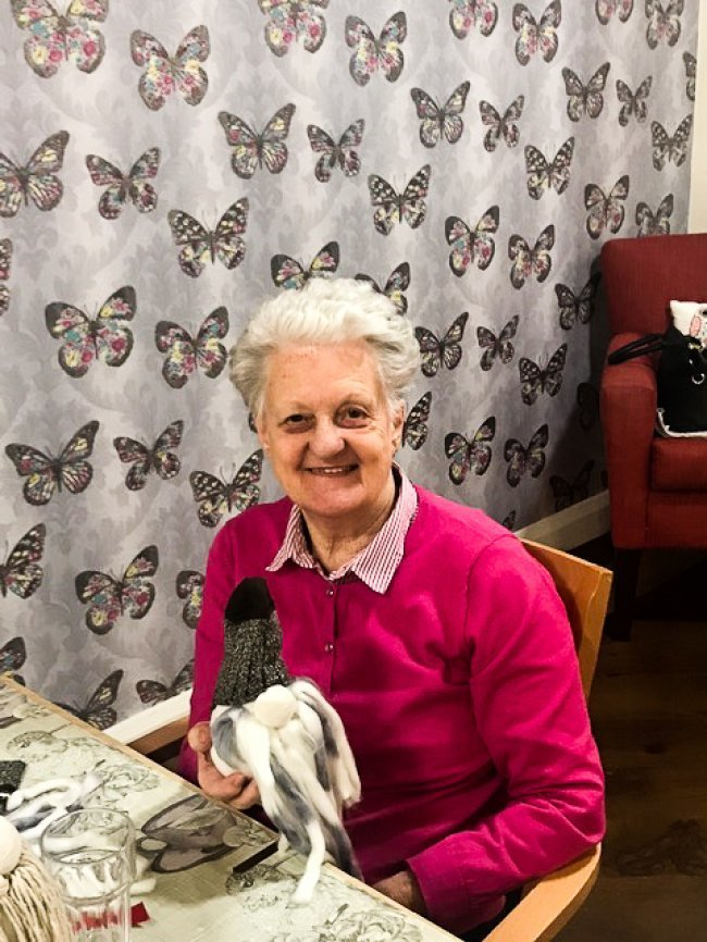 Residents at Weavers House in Cookstown, County Tyrone, got stuck in making some beautiful Christmas decorations for the home.