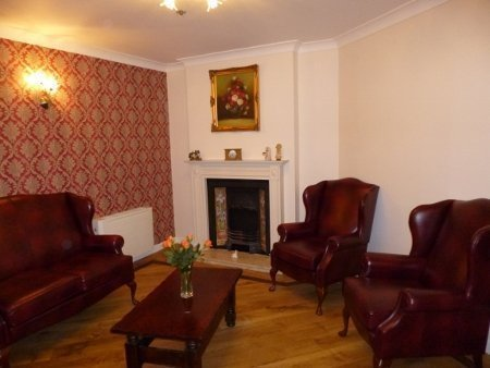 The tea room's comfy armchairs are the perfect place to relax