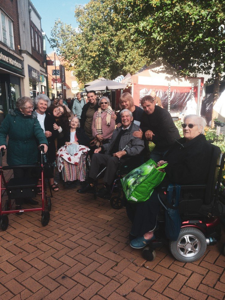 Windle Court residents take a trip to Chelmsford to explore the market.